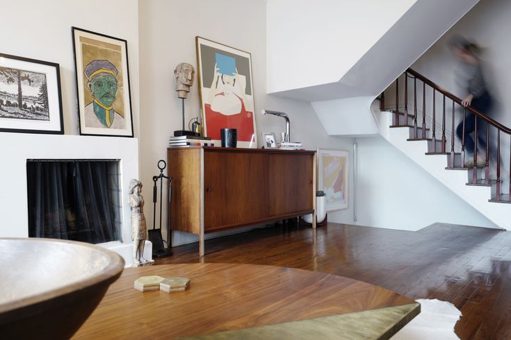 A #Design Duo's 19th-Century #Brooklyn #Townhouse Is Filled With #Art They Love - Dwell #livingroom