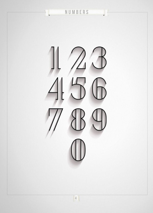 London, Numerals. Typeface. || Antonio Rodriquez Jr.