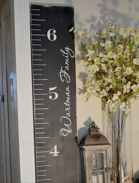 Custom growth chart distressed wood growth chart growth chart ruler vinyl decal