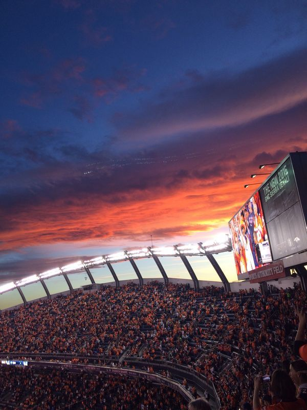 "Mile High ""Sunset"" @ Sports Authority Field @ Mile High Stadium!"