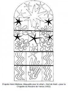 Henri Matisse Maquette pour le vitrail Nuit de Noël