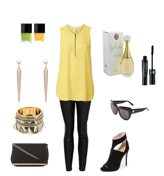 Date outfit. Crushing on yellow right now. This outfit is perfect for a night out, loving the heels.