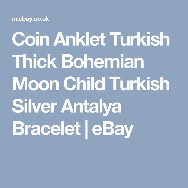 Coin Anklet Turkish Thick Bohemian Moon Child Turkish Silver Antalya Bracelet  | eBay
