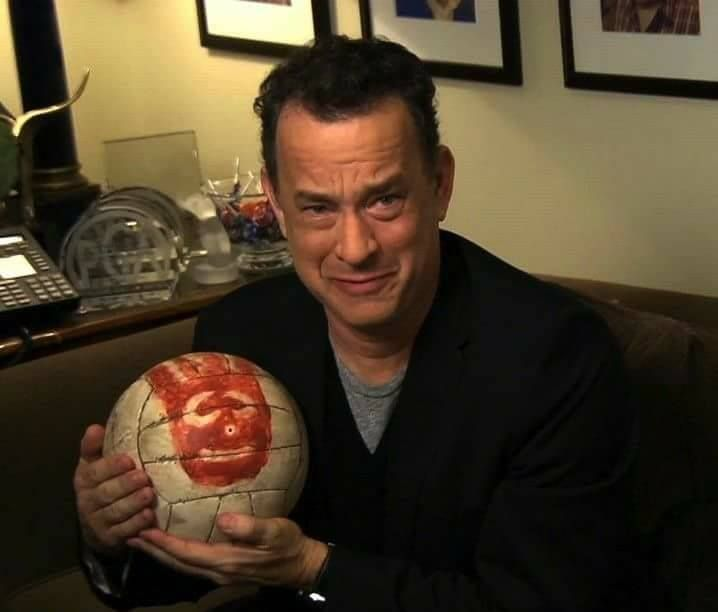 Tom Hanks reunites with his friend Wilson.
