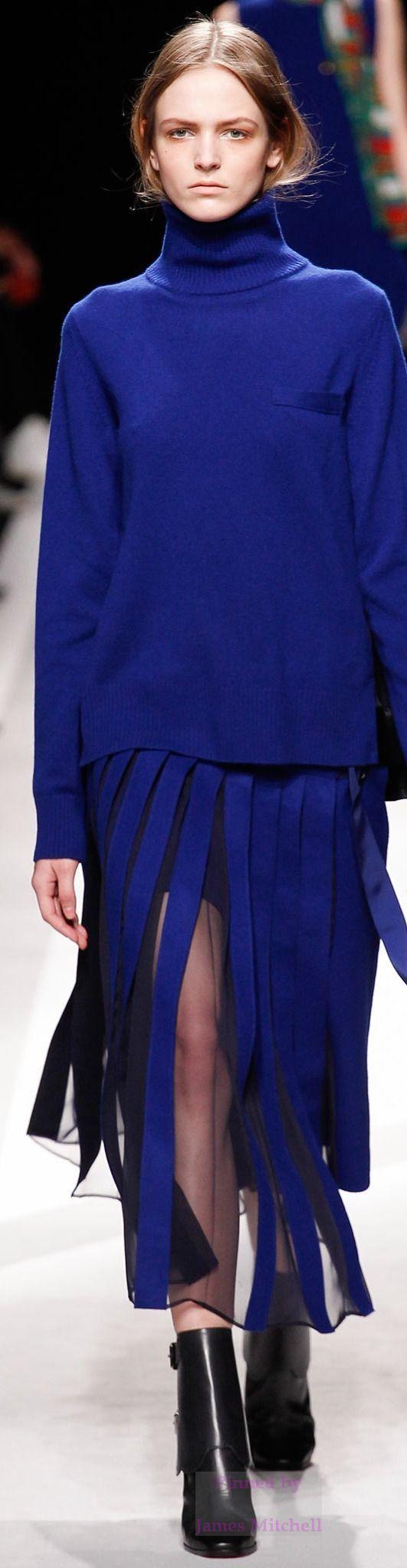 Sacai Collection Fall 2014 Ready to Wear Classic Blue #FusionbeadsColoroftheMonth #Pantone: