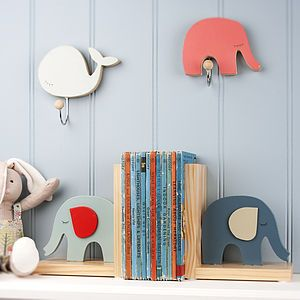 Elephant Wooden Bookends - interior accessories