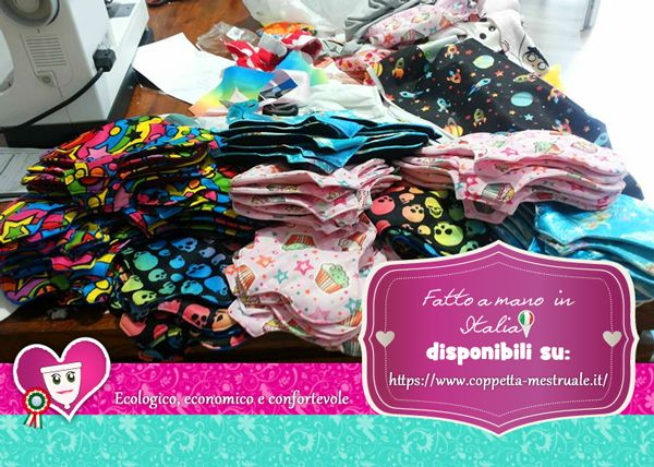 Teppolini cloth pads made in Italy. Happy Fantasy for Happy eco period! https://www.coppetta-mestruale.it/assorbenti_donna_teppolini.php