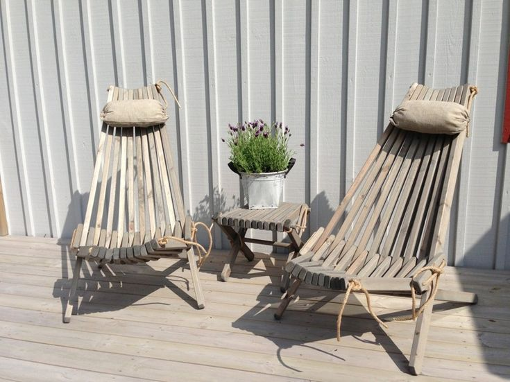 NorDeck chairs in sunshine