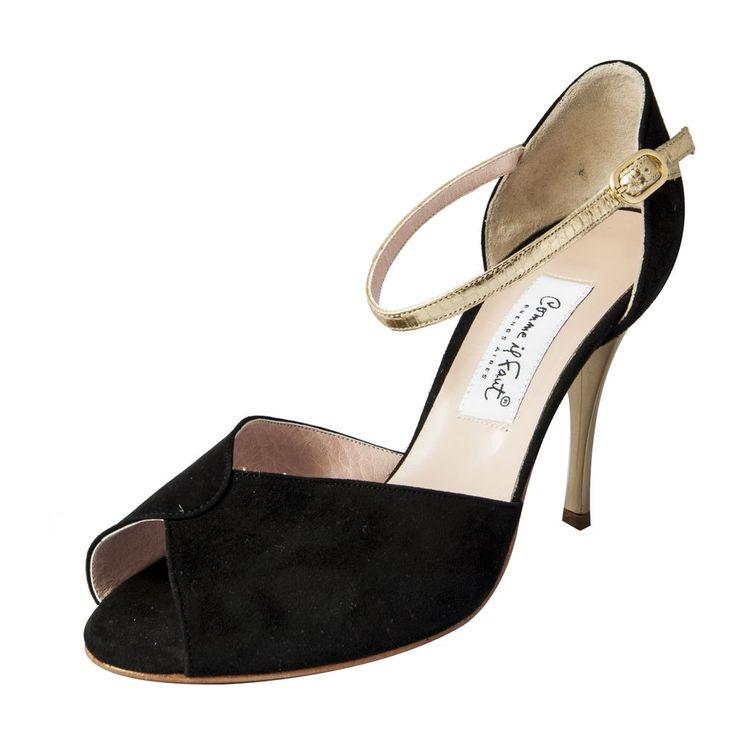 Comme il Faut Argentine Tango Dance Shoes - Gamuza Negra y Dorado via Comme il Faut Argentine Tango Shoes. Click on the image to see more!