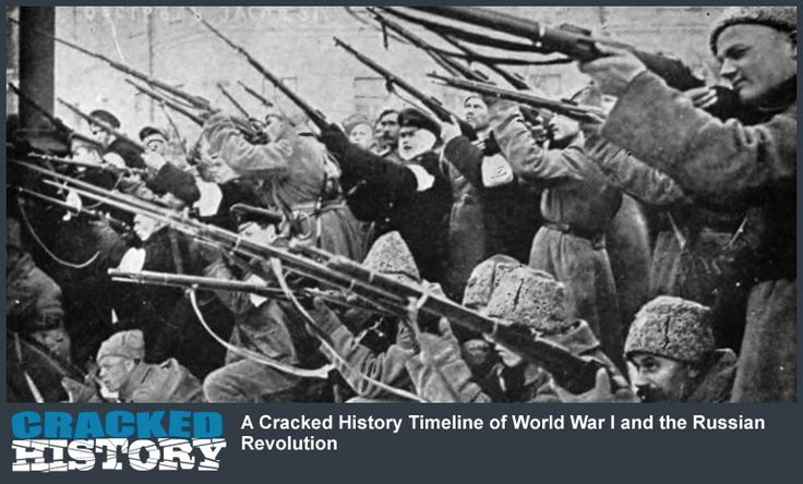A Cracked History Timeline of World War I and the Russian Revolution - http://www.crackedhistory.com/cracked-history-timeline-world-war-russian-revolution/