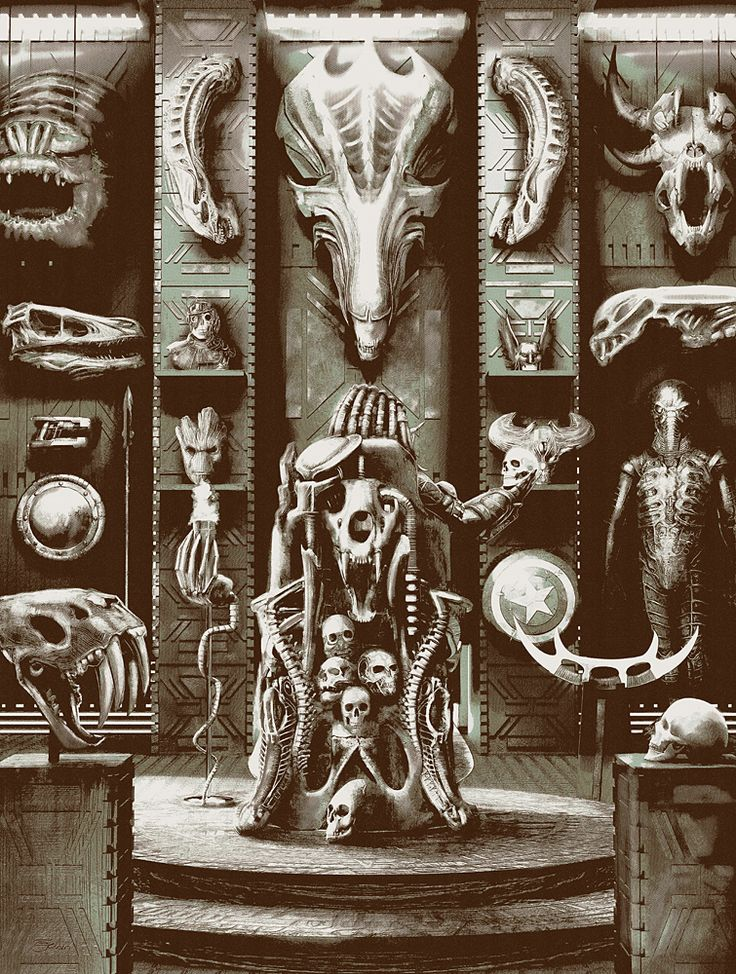"geekynerfherder: ""  'Trophy Room' by Chris Skinner, is part of the 'Bones' group art exhibition at Galerie F, with artists exploring the skeletal system, any creature, real or imagined, in any..."