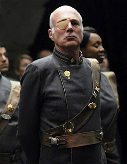 Saul Tigh of the Battlestar Galactica.