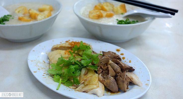 Chicken porridge and steamed chicken