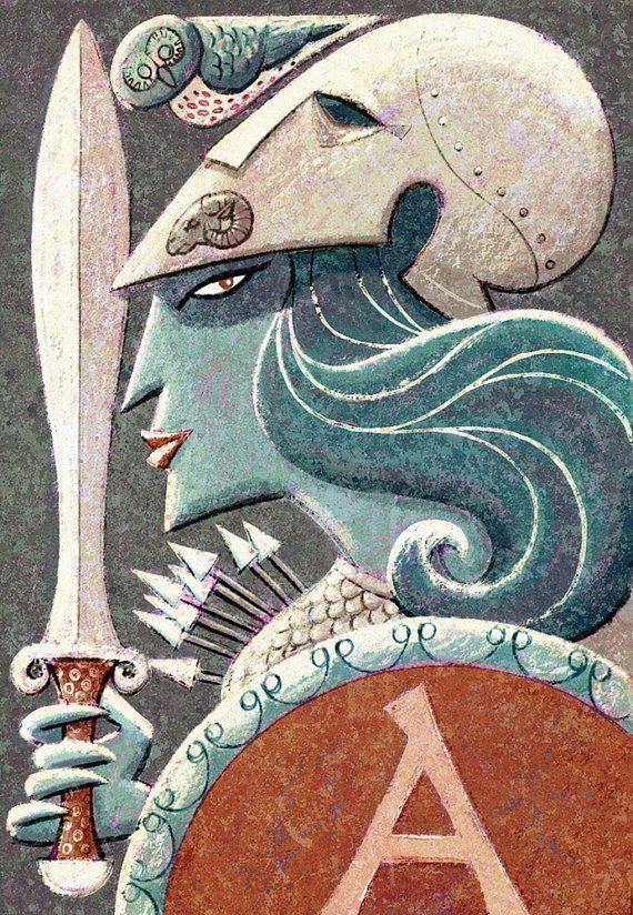 """Greek Gods - Athena 8"""" x 10"""" Print"""