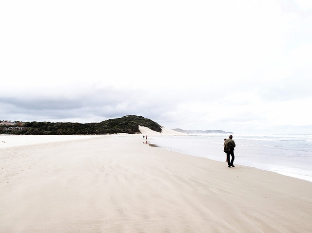 Nahoon Beach in the rain