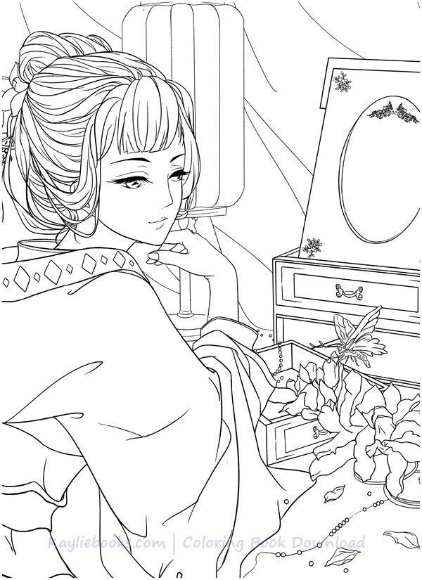 Download Classic Chinese Portrait Coloring Book PDF - Printable HD Coloring  Books, Coloring Book Art, Cool Coloring Pages