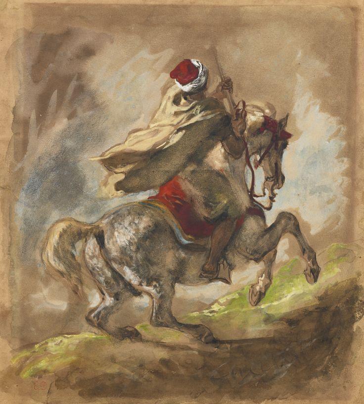 Eugène Delacroix 1798 - 1863 CAVALIER ARABE GALOPANT