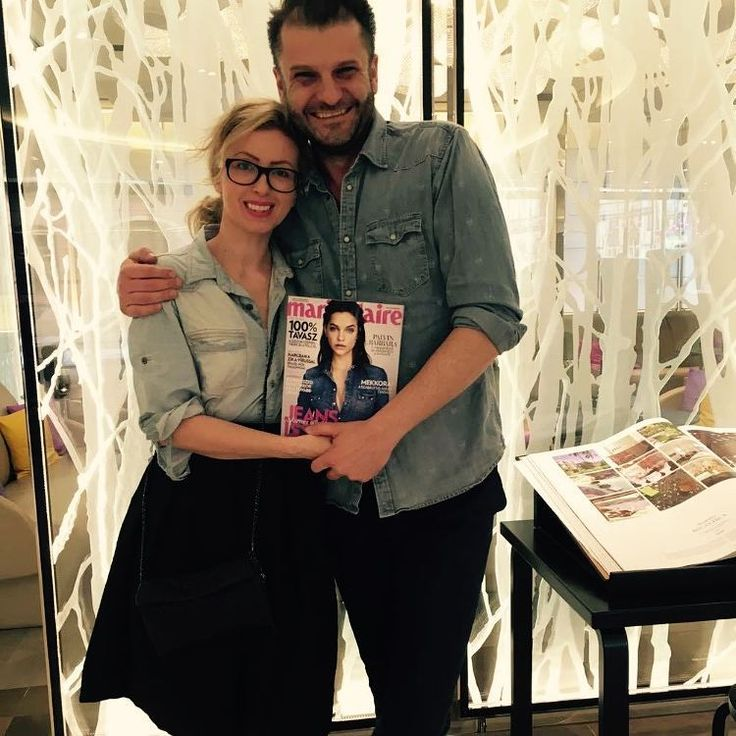 """""""Csupa farmer... szépségszerkesztőnk @pepirigoni és a cseh Marie Claire divatszerkesztője @elivanpoeyer Prágában a Fashion Weeken.  #praguefashionweek #mac…"""""""