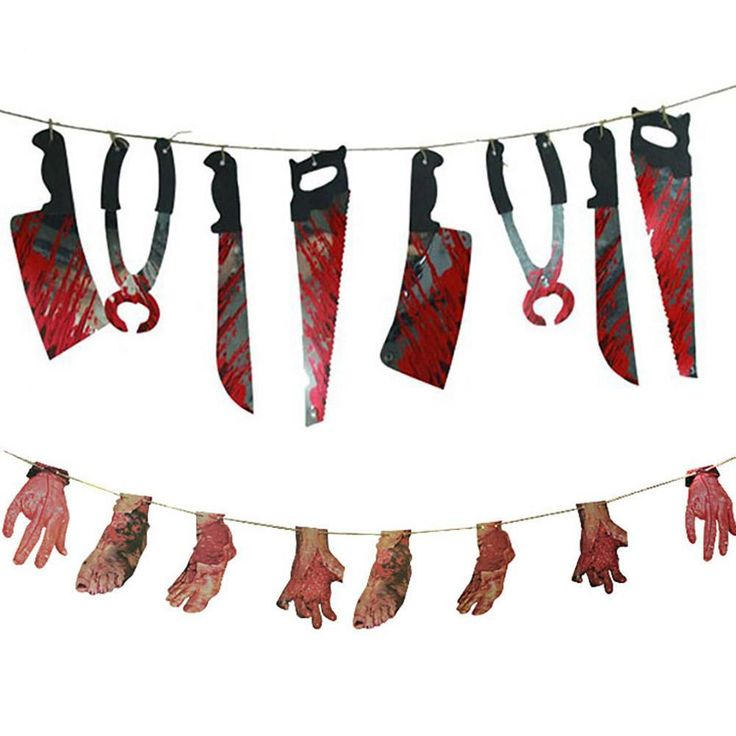 Horror Spooky Halloween Party Haunted House Hanging Garland Pendant Banner Decoration A3