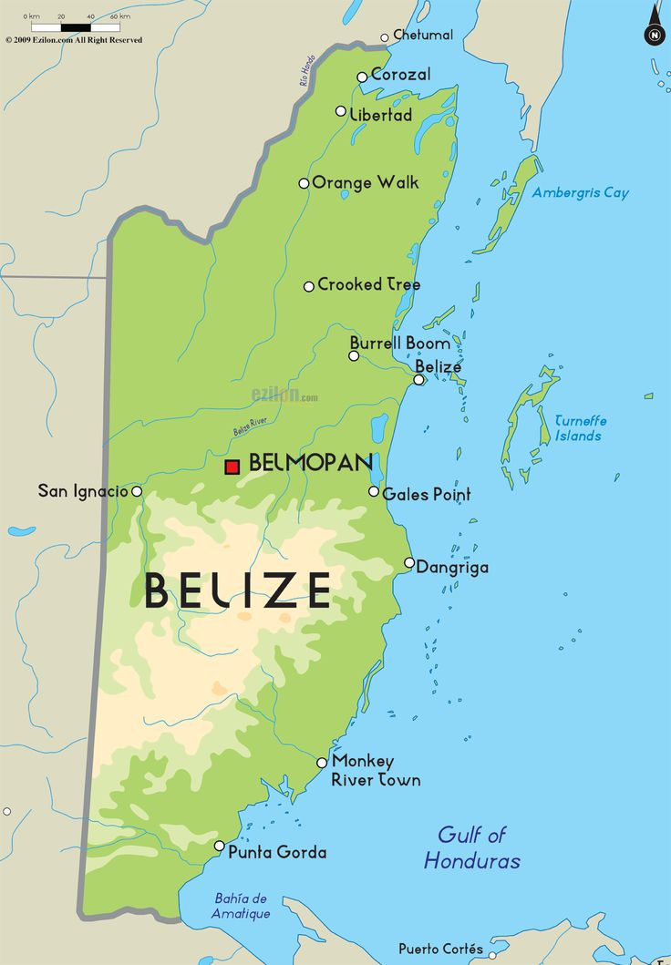 Belize Is A Nation State On The Eastern Coast Of Central America It Is