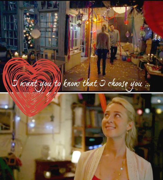 Romantic moment | Offspring | Nina and Patrick | I want you to know that I choose you ... and I choose you too