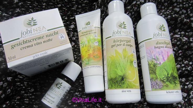 Jobinea prodotti di bellezza naturali. Recensione Jobinea per crema viso,crema mani, bagno doccia, gel corpo e olio essenziale.