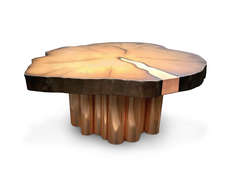 Coffee table Organ fits in a modern or creative urban interior and reminds its user that when nature is interacting with technology, it results in an individual design approach.