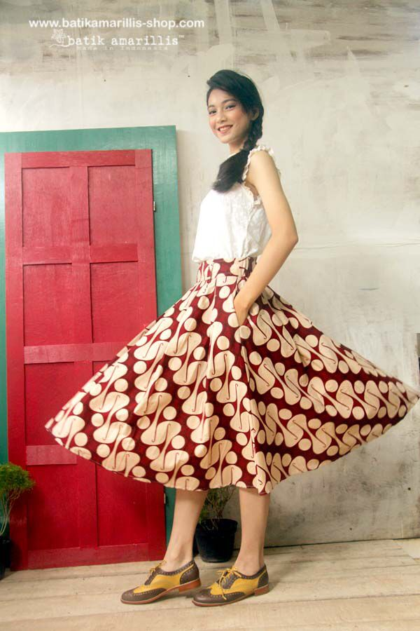 Batik Amarillis made in Indonesia www.batikamarillis-shop.com                 batik amarillis's  hey day skirt ... eternally chic '50s-inspired skirt is classic ,timeless ,with flared full skirt are supremely flattering!