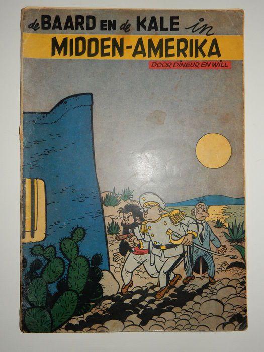 Baard en de Kale - In Midden-Amerika - 1e druk (1954) - W.B.