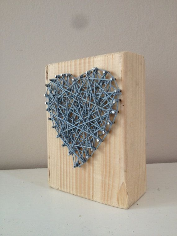 Heart design on 4 by 1 wood. Stands at 12cm tall. by Natstuff