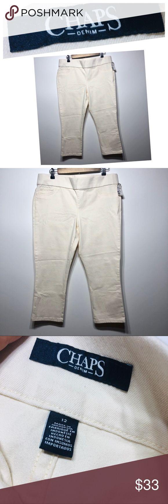 Chaps Stretch Tummy Control Cropped Pants NWT Chap…
