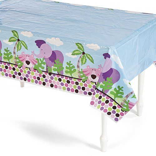 Safari Girl Table Cover by Fun Express. $3.50. Table Cloth Measures 54 Inches x 108 Inches.. 1 Safari Girl Table Cover.. Plastic.. Safari Girl Party Set.. Little girls will be ready for a wild safari adventure when they see this Safari Girl Table Cover. This adorable table cloth features some of your daughter's favorite zoo animals! Perfect for safari or zoo themed birthday parties.