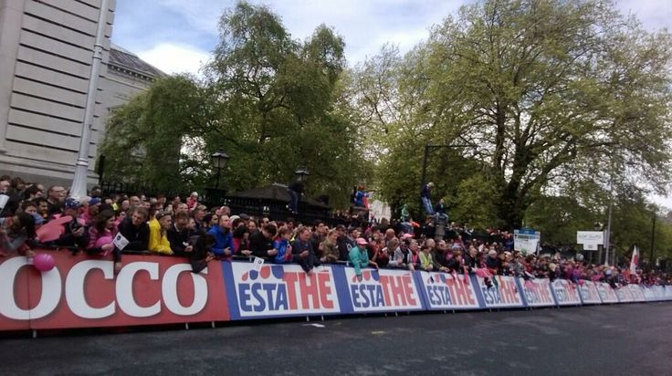 The race finished up in Merrion Square.