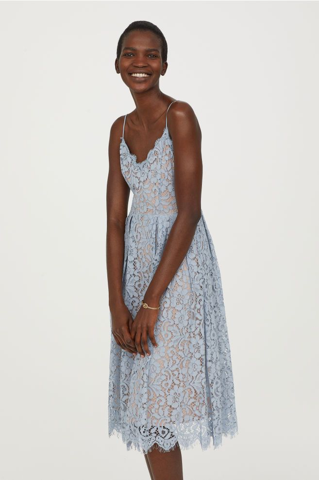 Welp Kanten jurk (met afbeeldingen)   Kanten jurk blauw, Jurken, Mode SY-58