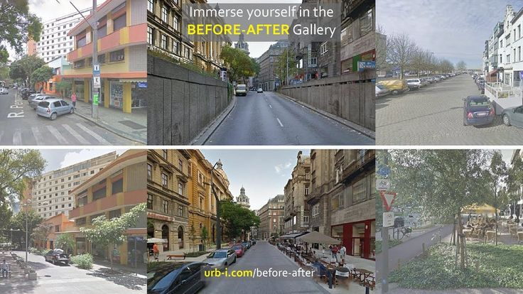 Urb-i - BEFORE   AFTER Con coches y sin coches