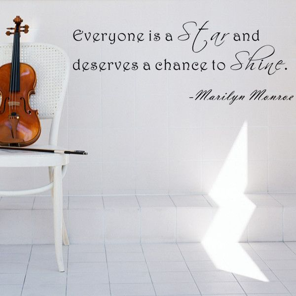 Everyone Is a Star- Marilyn Monroe Wall Decal