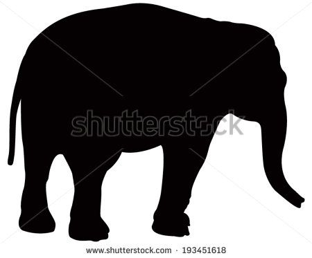 vector file of elephant
