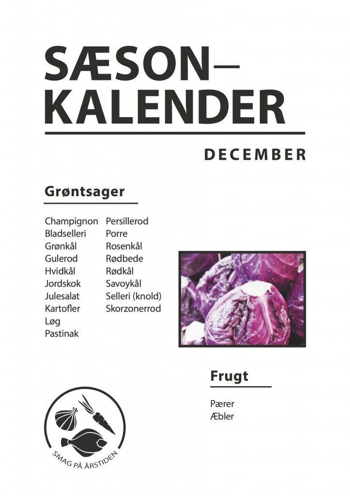 Sæsonkalender December | Smag På Årstiden
