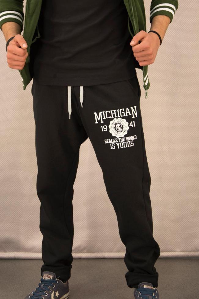 Ανδρικό παντελόνι φόρμας Michigan  FORM-1029-bc Φόρμες Αθλητικές - Sport
