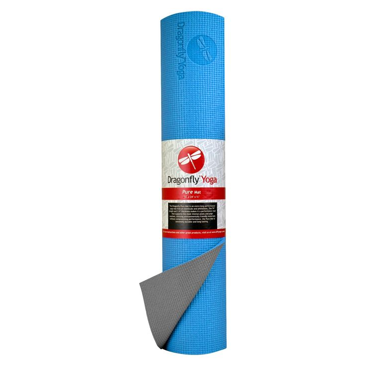 Dragonfly Yoga - Pure Yoga Mat - Blue/Gray - (1/4), Blue Gray