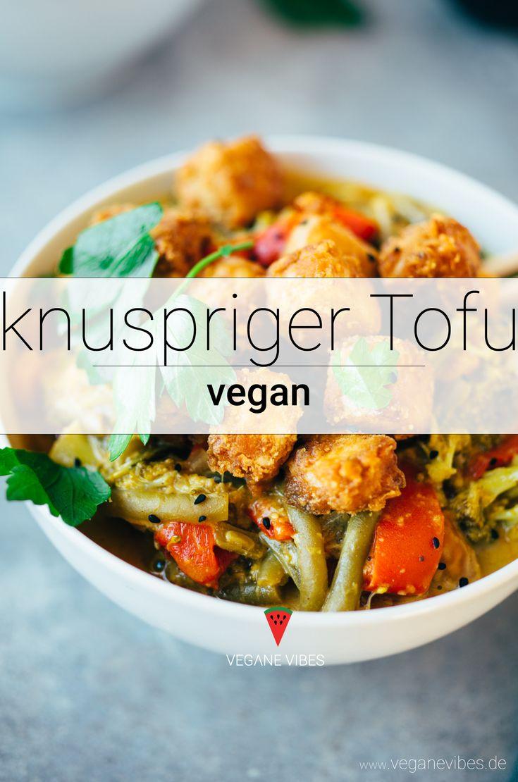 Knuspriger Tofu (asiatische Art)   – vegane Rezepte