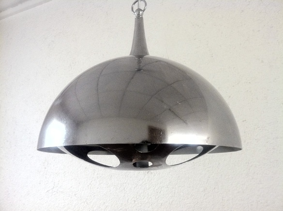 lamp in chromed steel