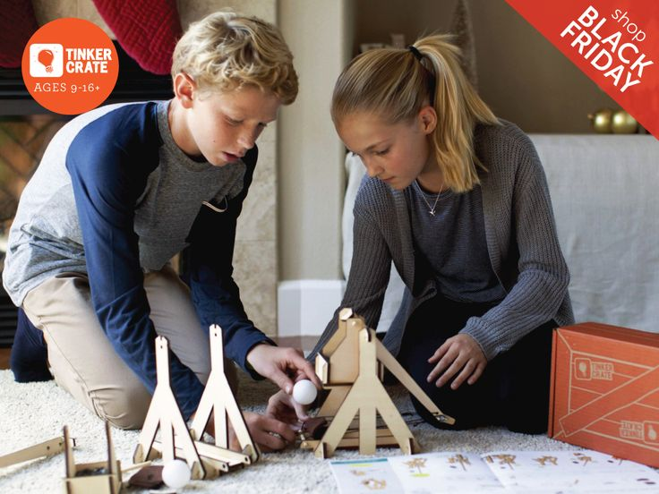Do you know a budding scientist, engineer, or innovator? Subscribe to Tinker Crate and receive awesome STEM-inspired projects, delivered monthly. Receive 60% off your first crate and 50% off all shop orders! Offer valid November 17th through November 30th, 2015.