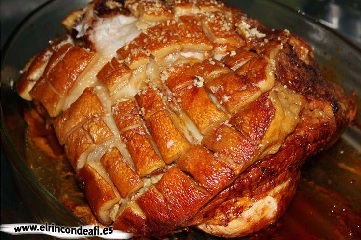 Pata de cerdo asada.