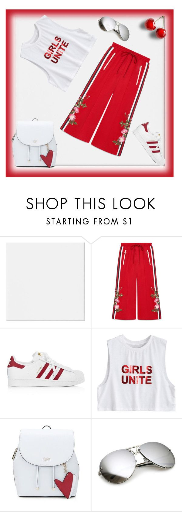 """""""Athletic Look"""" by lifestylestories ❤ liked on Polyvore featuring Gucci and adidas"""
