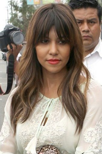 I love these bangs... oh to have bangs :( stupid cowlick long layered hair style with bangs
