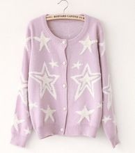 Hot sale high quality knit short stylish stars sweater for woman, cardigan sweater,made of acrylic,OEM welcomed  Best Buy follow this link http://shopingayo.space