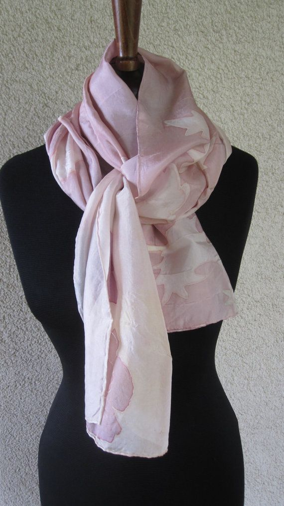 scarf or shawl in silk  pure handpainted with by ventodiscirocco, $79.00