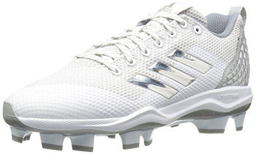 low cost 75532 0ac6e adidas Performance Womens PowerAlley 5 TPU W Baseball Shoe, WhiteMetallic  SilverLight