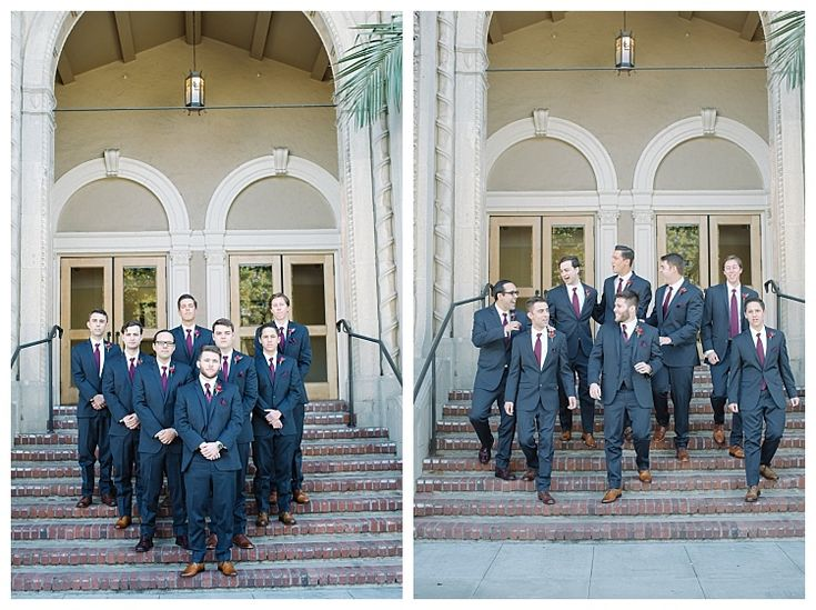 Groom with groomsmen | Brooke Bakken BlogEBell Club Wedding | Jen + Josh | Long Beach California Photography